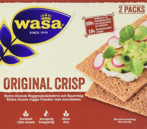 Wasa Knäckebrot Crisp Original, 18er Pack (18 x 200 g)