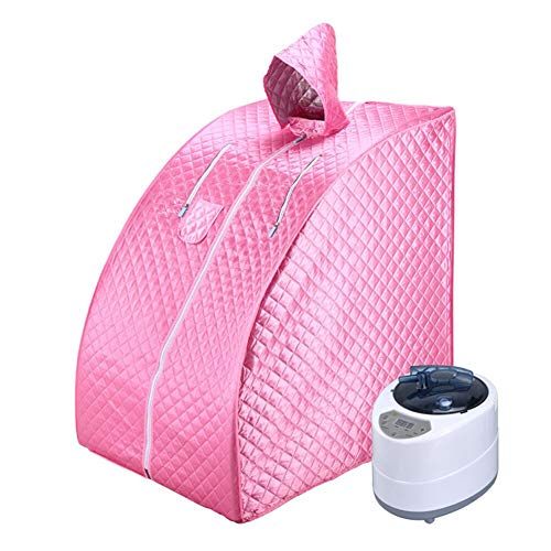 ALY Ångbastu hemmabruk bärbart spa-tält, spa slappna av fördelaktig hud förlora kalorier vikt håll huden frisk, med stol, ånggenerator etc, B