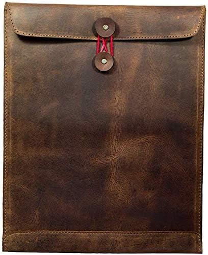 Leather Document Holder Mailing Envelope Office Work Resume Sales Portfolio Binder Folder Interview product image