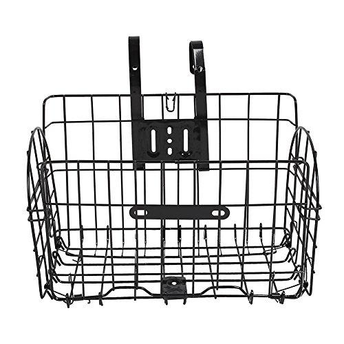 Forfar plegable Alambre de metal de la cesta para bicicletas Moto delantero del bolso Colgando trasera de bicicletas Basket bolso de la bicicleta Camino MTB de accesorios de la bici