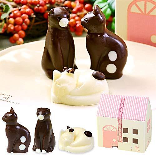 まとめ買い ねこ チョコレート 猫 チョコ 3個入り 6箱 セット お菓子 詰め合わせ お家の箱入り
