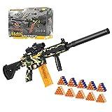 Pistola de Juguete Eléctrica con 100 Dardos de Espuma, 2 Modos de Disparo, Pistola de Espuma DIY M416, Recargable por USB, Regalo de Cumpleaños para Niños de 8 9 10 11 12 13 14+ Años