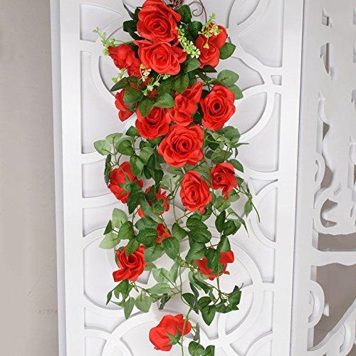 Blanketswarm Guirlande de Fleurs artificielles de Vigne pour Mariage, Maison, Jardin, fête, décoration de 3 Pieds