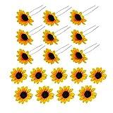 SwirlColor Pinza de Pelo, Cabello de Margarita Horquillas para el Cabello de Flor Accesorios para el Cabello para la Novia de Novia Mujer Decoración para el Pelo - 18Pcs (Amarillo)
