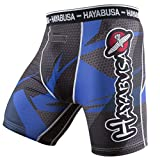 Hayabusa Metaru 47 Silver Jiu Jitsu Compression Spats - Black/Blue, Large