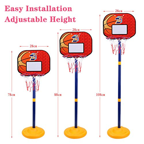 Best Prices! ZJB Child's Basketball Hoop Adjustable Indoor Basketball Rack Basketball Combination fo...