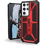 Urban Armor Gear Monarch Funda Samsung Galaxy Note20 Ultra 5G (6,9'') Cubierta [Oficialmente 'Designed for Samsung', protección de 5 capas, compatible carga inalámbrica (Qi)] rojo (crimson)
