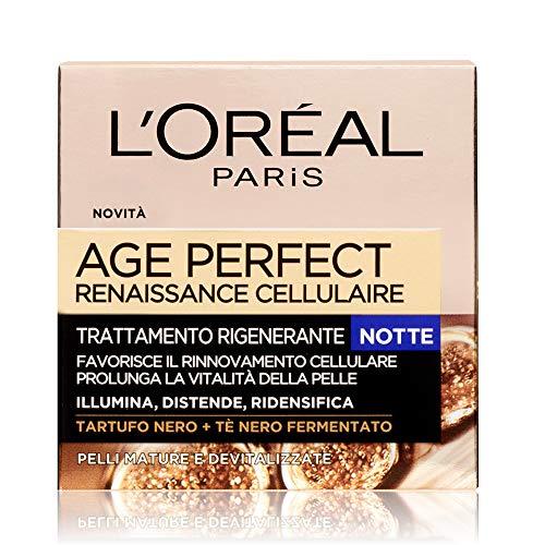 L Oréal Paris Crema Viso Notte Age Perfect Reinassance Cellulaire, Trattamento Ricostituente Notte, Pelli Mature, 50 ml, Confezione da 1