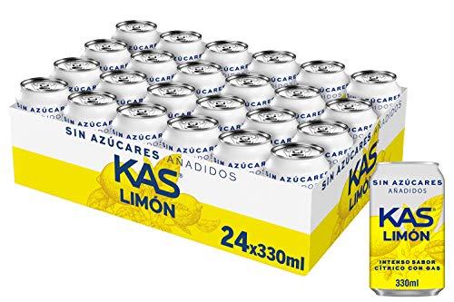 Kas Bebida Refrescante de Zumo de Limón con Edulcorantes,
