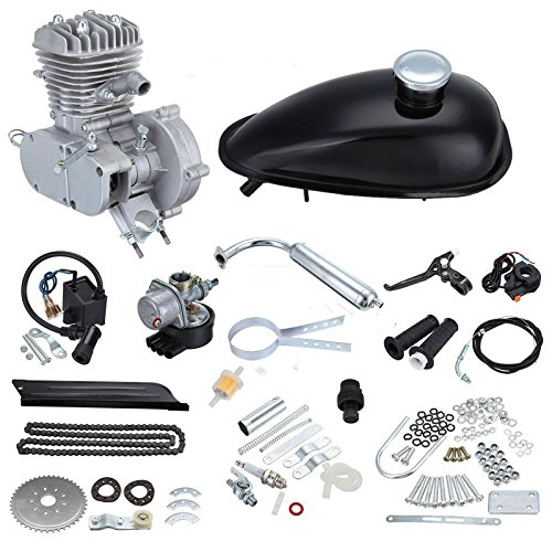 Ambienceo Kit motore 80cc 38km / h 2 Cycle Moteur Kit motorizzato per motori a benzina per biciclette