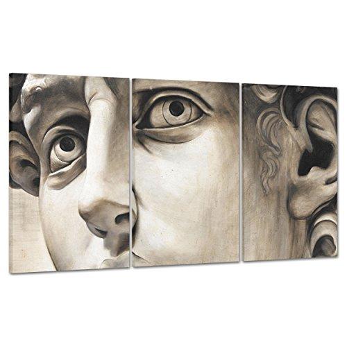 ConKrea Quadro su Tela Canvas - INTELAIATO - Pronto da Appendere - Michelangelo - David - Firenze Museo UFFIZZI - 100x50cm (cod.121)