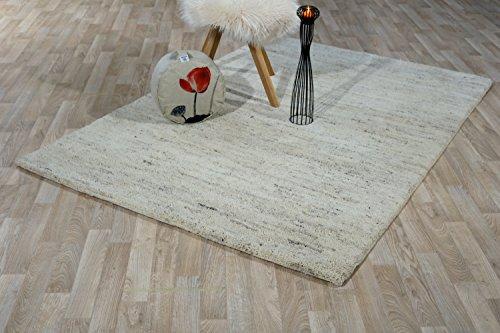 Taracarpet Berber Teppich Sina meliert aus 100% Schurwolle 15/15 Simple schwere Ausführung für das Wohnzimmer, Esszimmer und Schlafzimmer geeignet (120 x 180 cm)