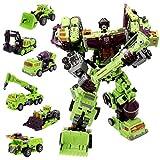 NBK Deformation Oversize Toys Robot Devastator TF Engineering Combiner 6 in 1 Action Figure Car Truck Model Gift for Kids Boys