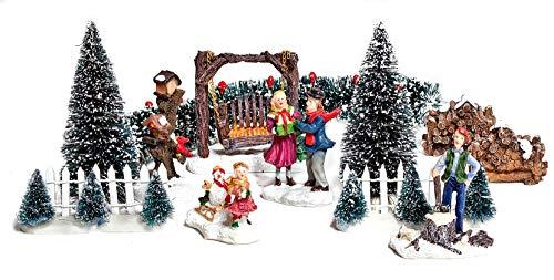VBS 12tlg. Miniatur-Deko Set Winter Weihnachten