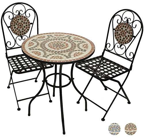 Woodside Mosaic Table And Chair Set - TERRACOTTA