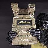 Affenhand´s 5.11 Tactical Gewichtsweste mit Gewichtsplatten | 20 LB | Camouflage