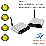 400M/1330FT MEASY AV240 2.4G Wireless AV Audio & Video Sender Transmitter & Receiver Syste...