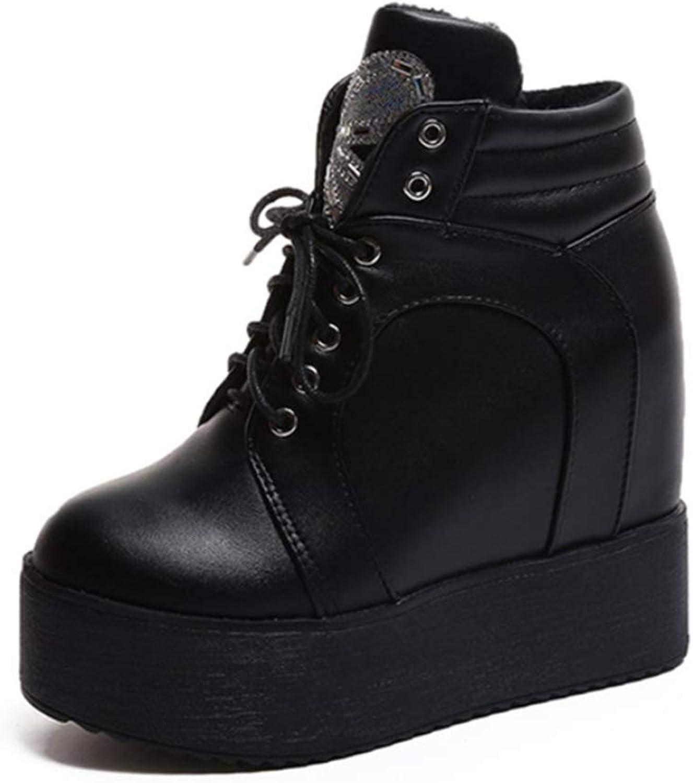 Sandomy en cuir skor chevilles étanches talons talons hauteurs hauteurs hauteurs skor de sport chaudes velours bottes de neige  skyndade sig att se