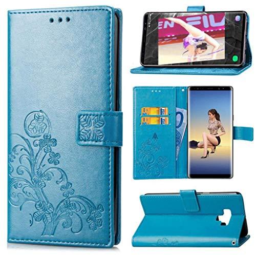 Mking Tech Handyhülle für Samsung Galaxy Note 9 / S9+ / S9 Plus / S9 Double Shell Schutzhülle. Geldbörse/automatischer Magnetverschluss/geprägtes Handygehäuse Schutzholster/Hülle/Telefonhülle