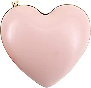 Womens Girls Heart Shaped Crossbody Bag Mini Chain Clutch Handbag Purse