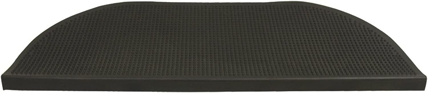 Grip Tight Rubber Step Mat - 10.25  x 29.875  inches - Black Stair Tread Runners - 6pk
