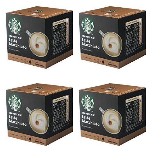 Nescafé Dolce Gusto Starbucks Latte Macchiato 4er Set, Kaffee, Milchkaffee, Kaffeekapseln, 4 x 12 Kapseln