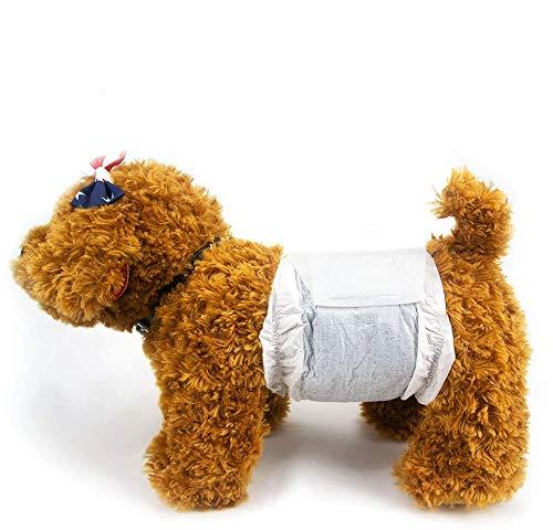 Dono Pannolini USA e Getta per Cani e Gatti Maschi - Involucri per Cani Morbidi Super assorbenti, Pannolini per Cuccioli con Tecnologia al Carbonio per la deodorizzazione (XS-26 Count)