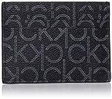 Calvin Klein Ck New Mono Cardholder - Porta carte di credito Uomo, Nero (Black Monogram), 0.1x0.1x0.1 cm (B x H T)
