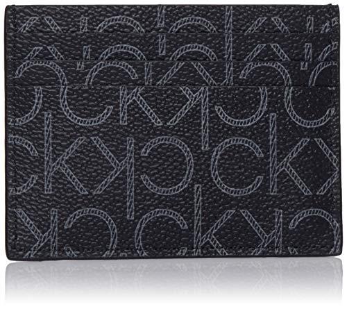 Calvin Klein - Ck New Mono Cardholder, Tarjeteros Hombre, Negro (Black Monogram), 0.1x0.1x0.1 cm (B x H T)