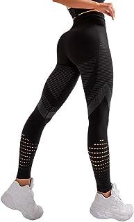 Mxssi Pantaloni Sportivi Yoga Pantaloni Sportivi Yoga a Vita Alta con Leggings a Vita Alta per Il Controllo della Pancia