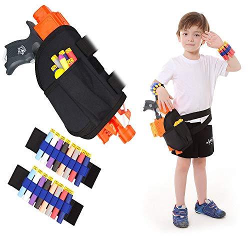 Quate - Marsupio tattico per bambini e kit per pistole Nerf N-strike Elite Series Blaster