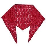 WOWOWO Mujeres Bordado Crochet Chal pañuelo para el Cuello Bufanda de Cuello Triangular de algodón Transpirable