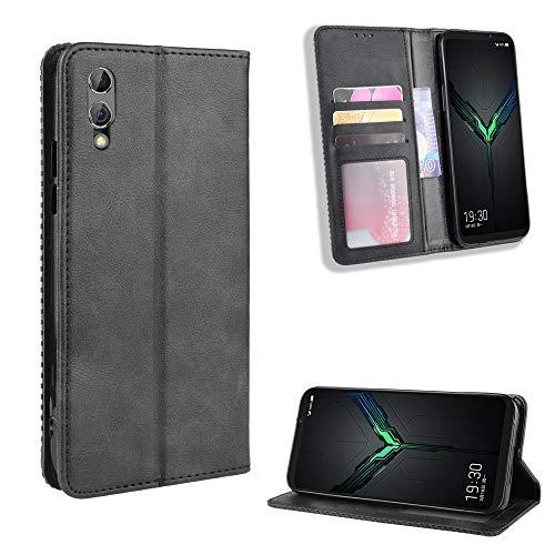 SWMGO® Flip Brieftasche Hülle Kompatibel für Xiaomi Black Shark 2 Pro/Xiaomi Black Shark 2/Huawei Honor V30 Pro(Muster 1)