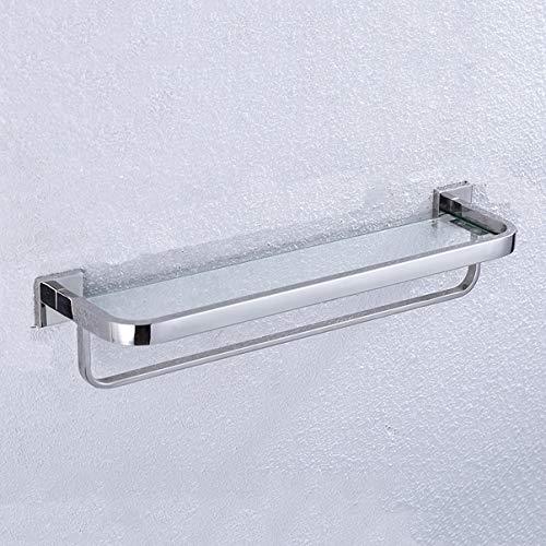 XUXUEYAN badkamer gehard glas rek 304 roestvrij staal handdoekhouder bad toiletrek muur hangen