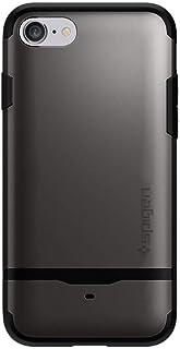 Spigen iPhone 7 Flip Armor Card Slot Gun Metal cover/case - Gunmetal