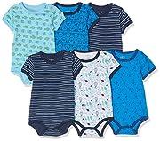 Amazon Exclusive: Care Baby - Jungen Kurzarm-Body im 3er und 6er Pack Blau (Dress Blues 772), Herstellergröße: 86