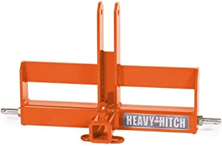 Category 1, 3 Point Hitch Receiver Drawbar with Suitcase Weight Bracket - Super Duty, Kubota Orange