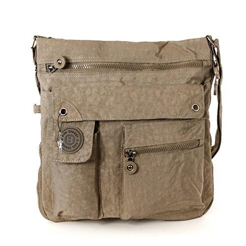 Estuche clave marrón tan estuche de cuero bolso clave bolsa mini opj900n