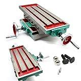 Fresadoras mesa de trabajo de fresado multifunción,Mesa de perforación compuesta,Mesa de trabajo de cruzada multifunción de 450*170mm,Para taladro de fresadora,Ancho de ranura de fresado:12mm
