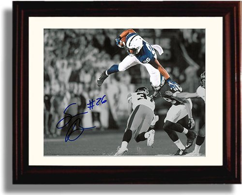 Framed Penn State - Saquon Barkley The Leap Framed Autograph Replica Print