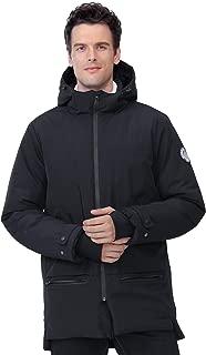 Men's Jackets Winter Parka Windproof Insulated Coats Black Outerwear Warm Casual Hooded Jacket Coats