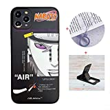 Cool iPhone 11 case Anime Comic for Boys,Hypebeast Naruto Pain Sasuke Kakashi Cute Cartoon Glossy Cover Graphics Design with Cell Phone Stand and Charm Strap Ring