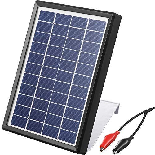 Sumind Solar Panel Charger for Feeder Battery, 6V/3.5W Panel Waterproof Solar Charger with Mounting Bracket
