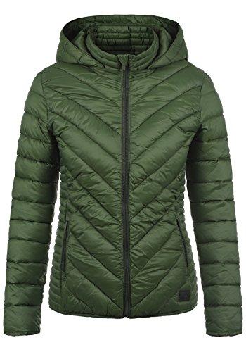 BlendShe Sienna Chaqueta Acolchada de Plumas Chaqueta De Entretiempo para Mujer con Capucha, tamaño:XS, Color:Duffle Bag Green (77019)