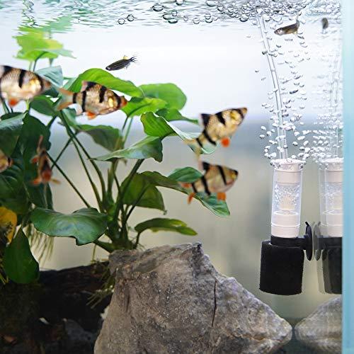 WEAVERBIRD Aquarium Filter Ultra Leiser Luftpumpenfilter 3-in-1-Filtersystem Biochemische Schwammfilter für kleines Fisch Aquarium