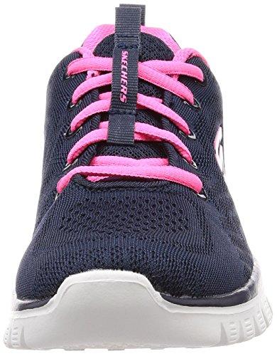 Skechers Graceful-Get Connected, Zapatillas Mujer, Multicolor (Nvhp Black Mesh), 38 EU