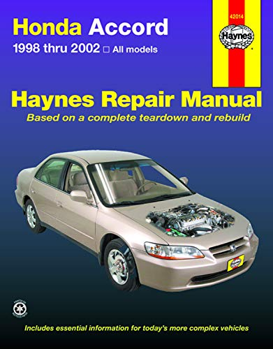 Honda Accord 1998-2002: All Models (Haynes Repair Manual)
