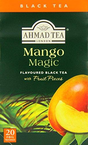 Ahmad Tea – Mango Magic | Schwarzer Tee mit Mangogeschmack | 20 Teebeutel á 2 g | Teebeutel mit Band