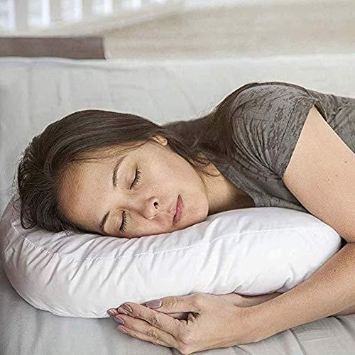 FENGZHO Cervicale nek kussen, Anti snurken hoog bevorderen perfecte slaaphouding reizen antisnor kussen U-vormige zachte ondersteuning.