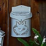 WHZ Cassetta Postale A Muro,Cassetta delle Lettere - Cassetta delle Lettere Vintage in Ghisa, Cassetta Posta con Serratura, Resistente alle Intemperie, Design Classico